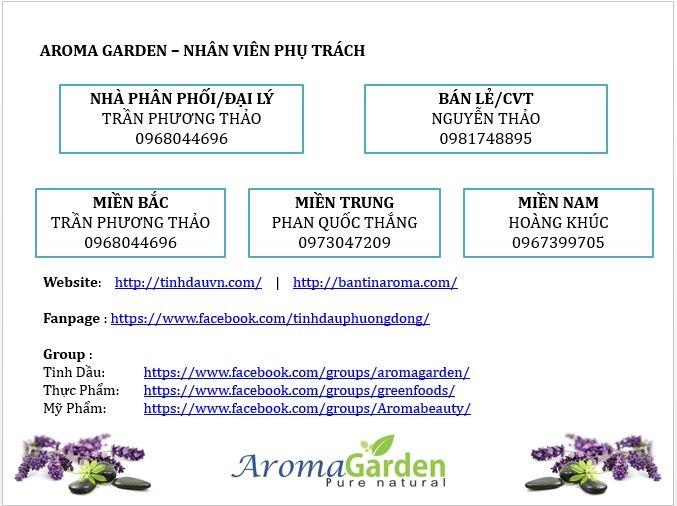 Nhân sự phụ trách hỗ trợ đại lý và khách hàng của Aroma Garden