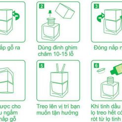 hướng dẫn sử dụng tinh dầu treo xe