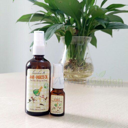 xịt tinh dầu chống côn trùng đuổi muỗi