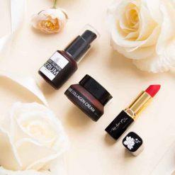 hộp quà tặng chăm sóc da collagen son môi