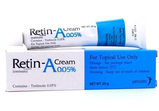 Thuốc bôi trị mụn retin a
