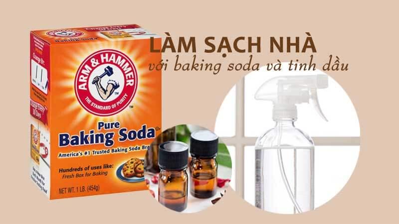 3 cách làm sạch nhà đơn giản với baking soda và tinh dầu thiên nhiên, khử mùi, thanh lọc không khí