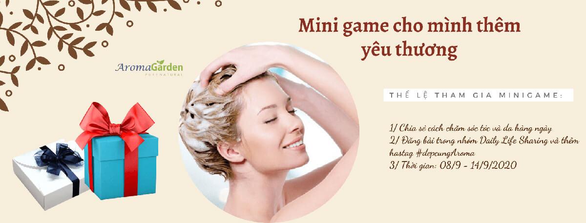 mini game cho mình them yeu thuong, cham soc toc, cham soc da, yeu thuong ban than, minigame